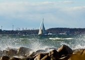 Kiel - Fördesegeln bei Starkwind