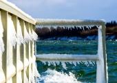 Kiel - Hafenmole Schilksee winterlich 4
