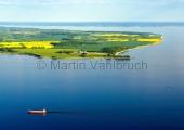 Kiel - Feederschiff vor Bülk aus der Luft