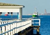 Kiel - Zollboot mit Laboer Ehrenmal