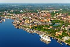 Kiel aus der Luft - Altstadt und Fördeufer