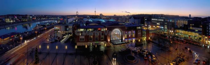 Panorama um den Hauptbahnhof Kiel