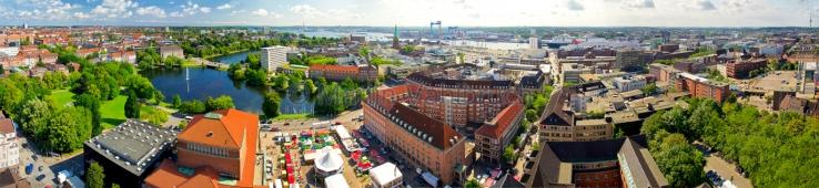 Panorama Kiel Zentrum