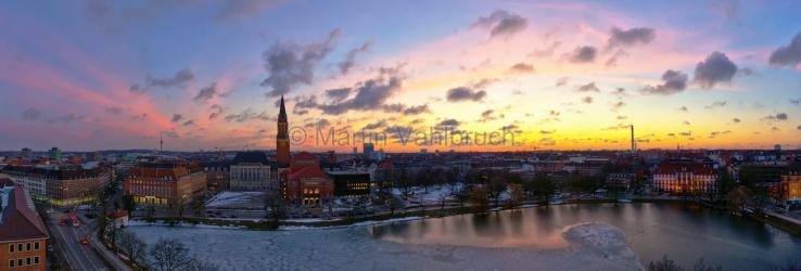 Panorama Kiel - kleiner Kiel und Rathaus 2