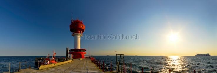 Panorama kiel - Leuchtturm Kiel in der Morgensonne