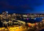 Kiel - Hörnbrücke bei Nacht
