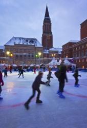 Kiel - Eislaufen auf dem Rathausplatz