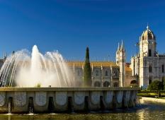 Lissabon - Belem - Brunnen im Jardim da Praca do Imperio 2
