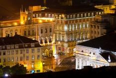 Lissabon - Teatro Nacional und Bahnhof Rossio