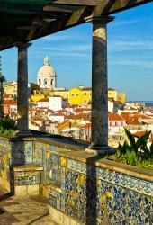 Lissabon - Miradouro Santa Luzia