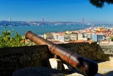 Lissabon - Tejo vom Castelo Sao Jorge