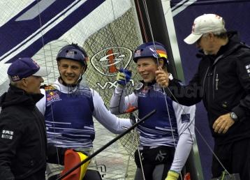 Red Bull Foiling Generation Kiel 2016 - Gesamtsieger Jasper Steffens und Tom Lennart Brauckmann 2