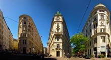 Wien - Eckhäuser Sterngasse - Vorlaufstrasse - Marc-Aurel-Strasse