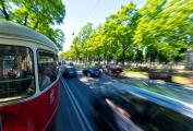 Wien - Trambahnfahrt auf dem Universitätsring