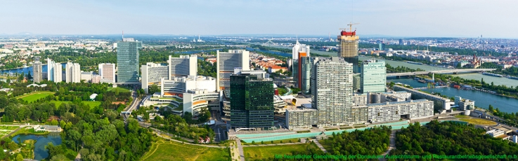 Wien - Donau City vom Donauturm Panorama