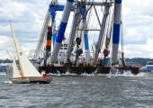 Classic Week 2014 - Flensburg - Seepferdchen mit Schwimmkran