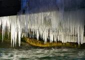 Kiel - Eiszapfen am Steg - Schilksee