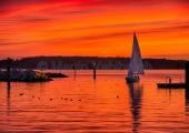 Kiel - Abenddämmerung im Laboer Hafen