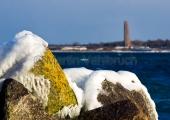Kiel - Hafenmole Schilksee winterlich