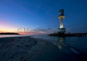 Kiel - Leuchtturm Friedrichsort bei Nacht