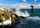 Kiel - Hafenmole Schilksee winterlich 2