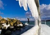 Kiel - Hafenmole Schilksee winterlich 3