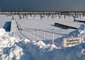 Kiel - Yachthafen Schilksee im Winter