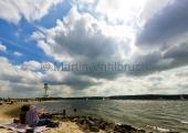 Kiel - Strand am Friedrichsorter Leuchtturm