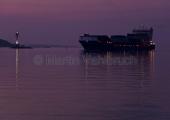 Kiel - nächtliche Einfahrt in die Kieler Förde