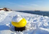 Kiel - Holtenau - Thiessenkai im Schnee