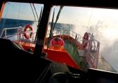 Kiel -  Lotsenboot in voller Fahrt