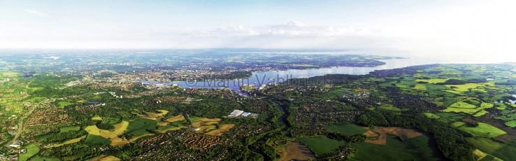 Kiel aus der Luft -  Panorama