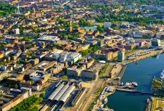 Kiel aus der Luft - suedliche Innenstadt