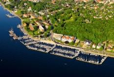 Kiel aus der Luft - der alte Olympiahafen