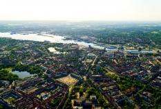 Kiel aus der Luft - Innenstadt