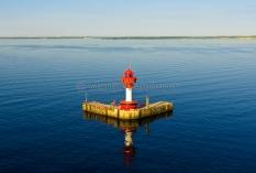 Kiel aus der Luft - Leuchtturm Kiel