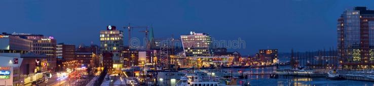 Panorama Kiel - Hafen und Innenstadt