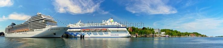 Panorama Kiel - Kreuzfahrtschiffe
