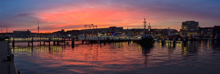 Panorama Kiel - Hörn im Abendrot