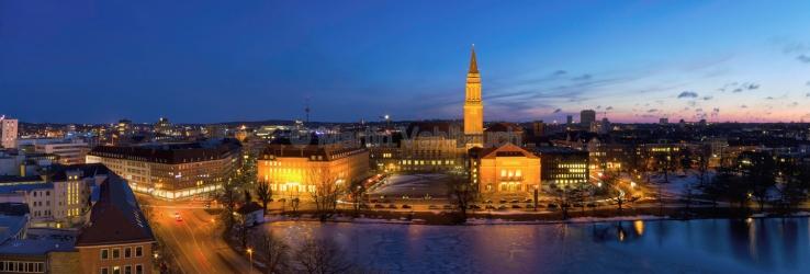 Panorama Kiel - kleiner Kiel und Rathaus