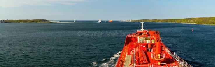 Panorama Kiel - Schiffahrt auf der Förde