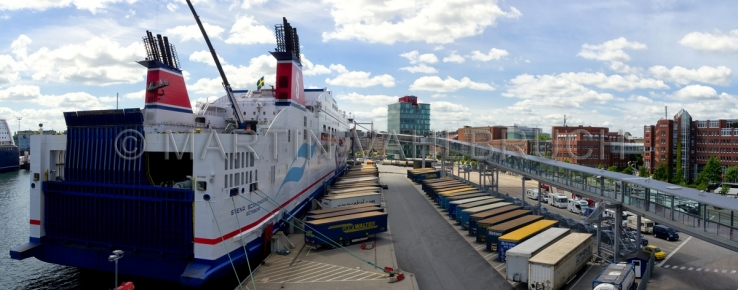 Panorama Stena mit Containern
