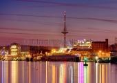 Kiel - Innenförde bei Nacht