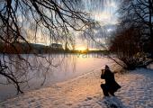 Kiel - Am kleinen Kiel im Winter
