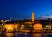 Kiel - Rathaus und Opernhaus bei Nacht
