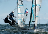 Kieler Woche 2018 -  49er FX - 020 - GBR 230 - Megan Brickwood - Eleanor Aldridge - 1. Segel- und Surfclub