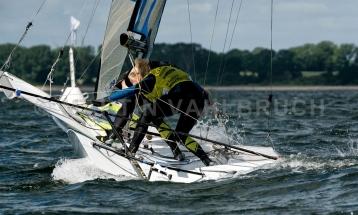 Kieler Woche 2018 -  49er FX - 026 - NED 65 - Odile van Aanholt - Marieke Jongens - Koninklijke Watersport-Vereeniging 'Loosdrecht'