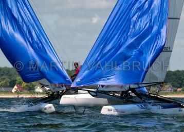 Kieler Woche 2018 - Nacra 17 mixed - John Gimson - Anna Burnet 2