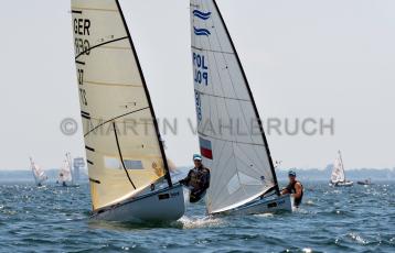 Kieler Woche 2019 - Finn Dingy - GER 21 Matthias Wolff und POL 81 Borys Michniewicz