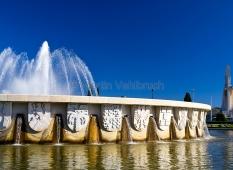 Lissabon - Belem - Brunnen im Jardim da Praca do Imperio 1